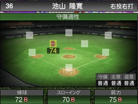 プロスピA池山隆寛2021シリーズ1TSの守備評価