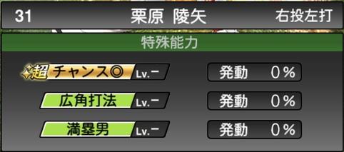 プロスピA栗原陵矢2021シリーズ1の特殊能力