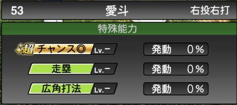 プロスピA愛斗2021シリーズ1の特殊能力