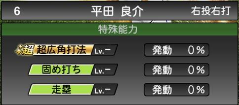 プロスピA平田良介2021シリーズ1の特殊能力