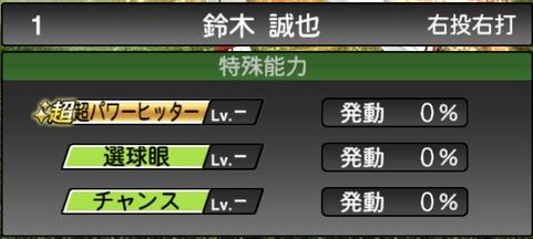 プロスピA鈴木誠也2021シリーズ1の特殊能力