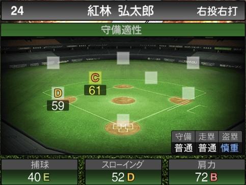 プロスピA紅林弘太郎2021シリーズ1の守備評価