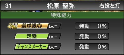 プロスピA松原聖弥2021シリーズ1の特殊能力