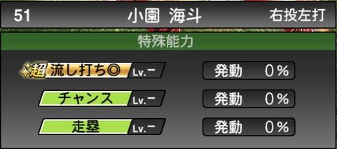 プロスピA小園海斗2021シリーズ1の特殊能力