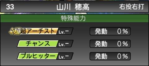 プロスピA山川穂高2021シリーズ1石橋貴明セレクションの特殊能力