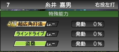 プロスピA糸井嘉男2021シリーズ1石橋貴明セレクションの特殊能力