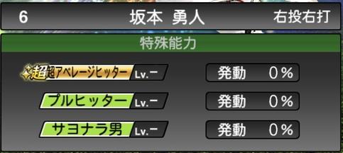 プロスピA坂本勇人2021シリーズ1石橋貴明セレクションの特殊能力