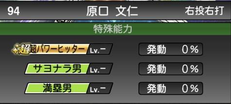 プロスピA原口文仁2021シリーズ1石橋貴明セレクションの特殊能力