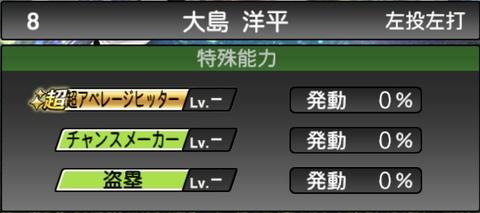 プロスピA大島洋平2021シリーズ1石橋貴明セレクションの特殊能力