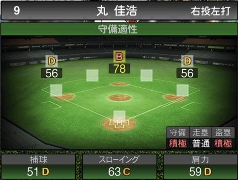 プロスピA丸佳浩2021シリーズ1石橋貴明セレクションの守備評価