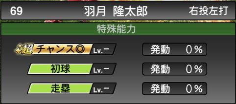 プロスピA羽月隆太郎2021シリーズ1の特殊能力