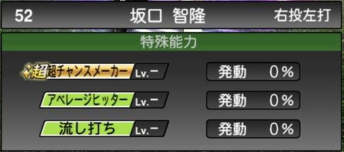 プロスピA坂口智隆2021シリーズ1TSの特殊能力
