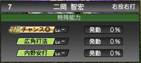 プロスピA二岡智弘2021シリーズ1TSの特殊能力