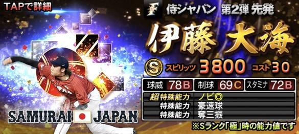 2021侍ジャパンセレクション第2弾伊藤大海