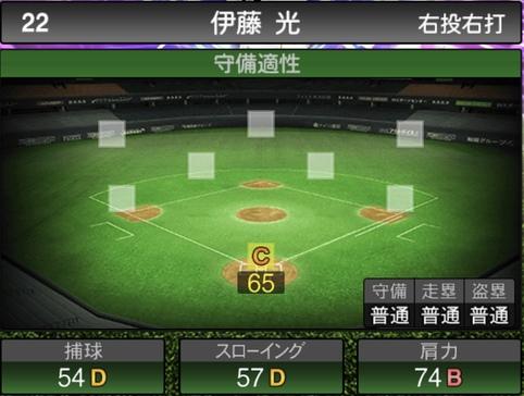 プロスピA伊藤光2021シリーズ1TSの守備評価