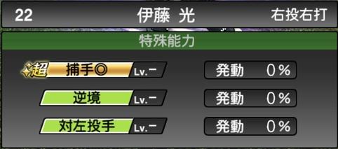 プロスピA伊藤光2021シリーズ1TSの特殊能力
