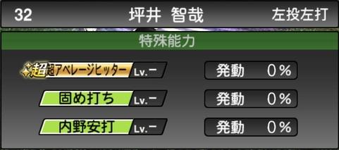 プロスピA坪井智哉2021シリーズ1TSの特殊能力