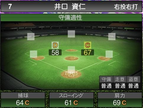 プロスピA井口資仁2021シリーズ1TSの守備評価