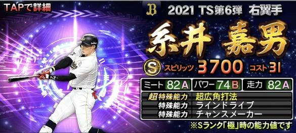 プロスピA糸井嘉男2021TS第6弾の評価