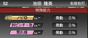 プロスピA池田隆英2021シリーズ2の特殊能力