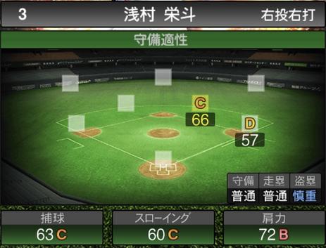 プロスピA浅村栄斗2021シリーズ2の守備評価