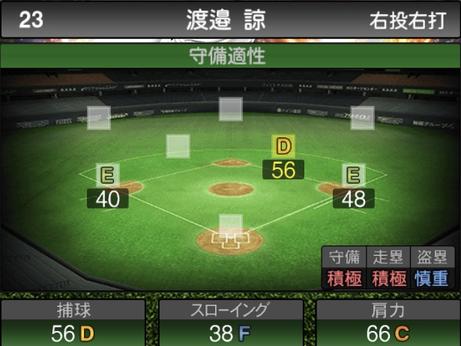 プロスピA渡邉諒2021シリーズ2の守備評価