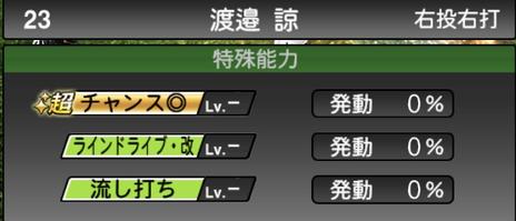 プロスピA渡邉諒2021シリーズ2の特殊能力