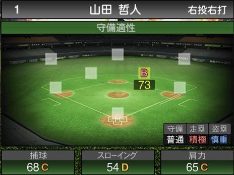 プロスピA山田哲人2021シリーズ2の守備評価