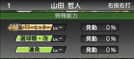 プロスピA山田哲人2021シリーズ2の特殊能力