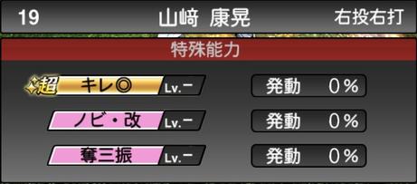 プロスピA山﨑康晃2021シリーズ2の特殊能力