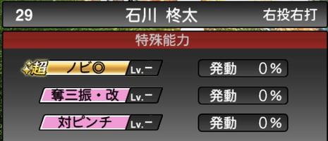 プロスピA石川柊太2021シリーズ2の特殊能力