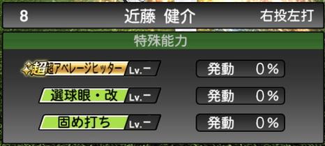 プロスピA近藤健介2021シリーズ2の特殊能力