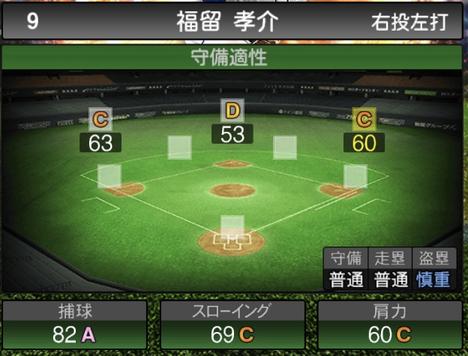 プロスピA福留孝介2021シリーズ2の守備評価