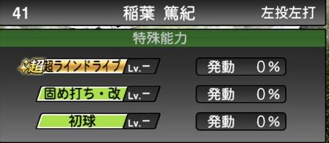 プロスピA稲葉篤紀2021シリーズ2OBの特殊能力
