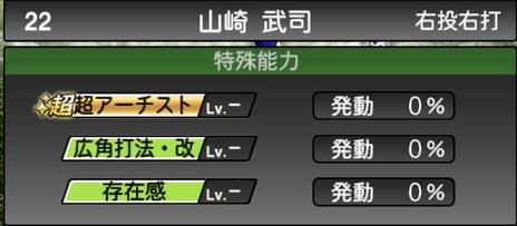 プロスピA山崎武司2021シリーズ2OBの特殊能力