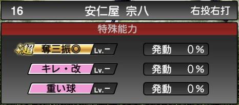プロスピA安仁屋宗八2021シリーズ2OBの特殊能力