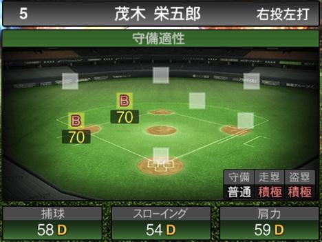 プロスピA茂木栄五郎2021シリーズ2の守備評価