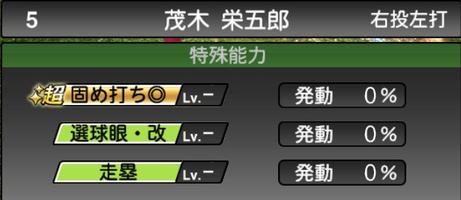 プロスピA茂木栄五郎2021シリーズ2の特殊能力