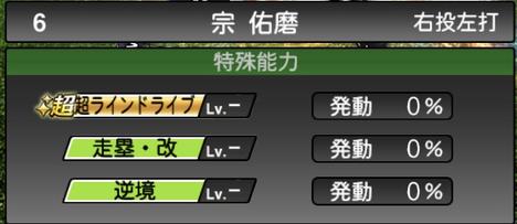 プロスピA宗佑磨2021シリーズ2の特殊能力
