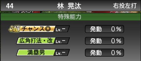 プロスピA林晃汰2021シリーズ2の特殊能力